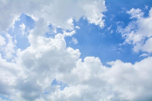 夏-背景の雲と青い空