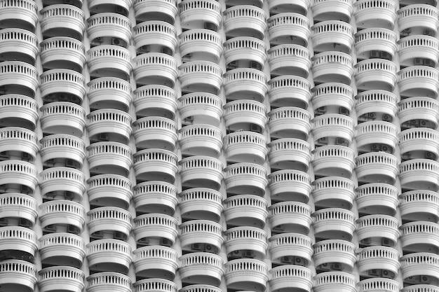 バルコニーパターン-モノクロ