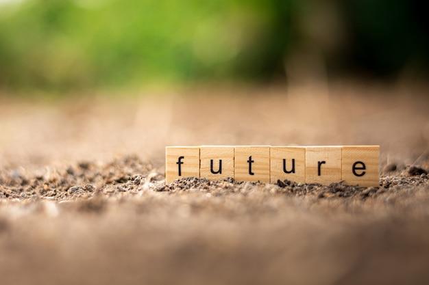 乾燥地の「未来の」アルファベット。