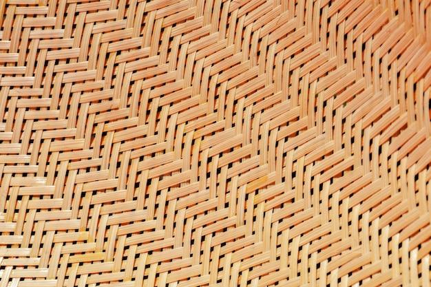 古典的な編まれた竹の質感