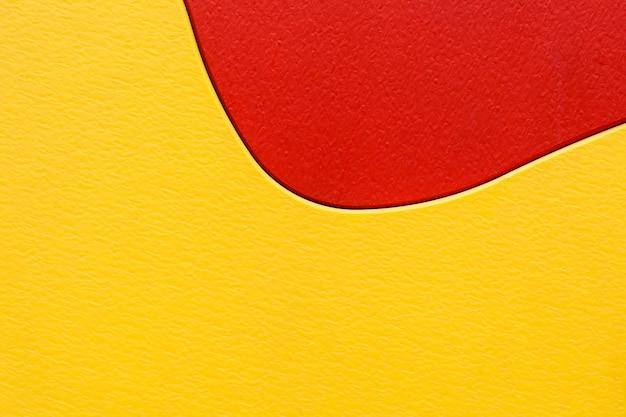 赤と黄色のプラスチックの質感