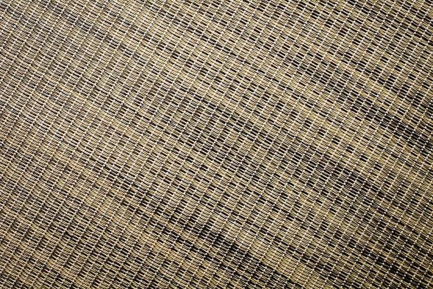 茶色の籐のバスケット織りパターンテクスチャと背景