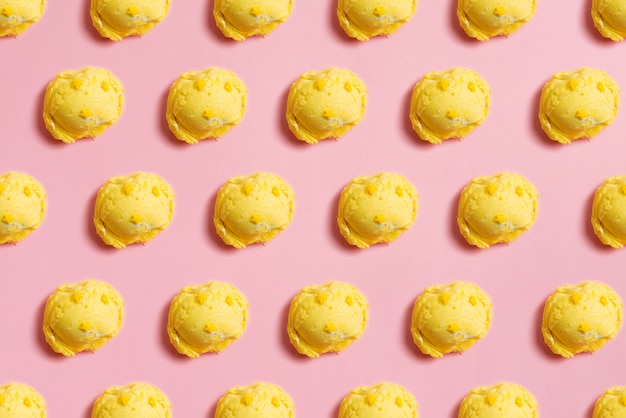 Бесшовные шариков ванильного мороженого