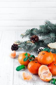 タンジェリンとクリスマスの組成