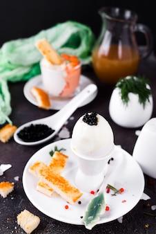 ゆで卵のおいしい朝食