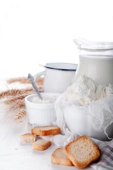Свежие молочные продукты
