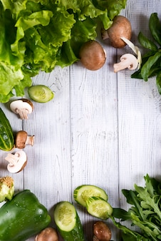 異なる生の野菜
