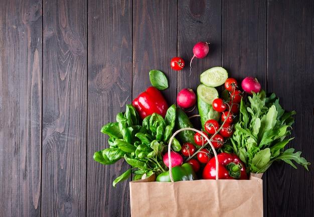 異なる健康食品の紙袋