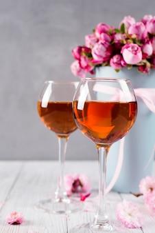 ブーケ、ワイングラス