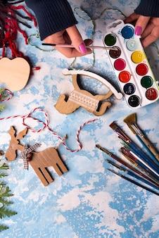 クリスマスデコレーションのおもちゃを作る