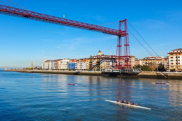 Подвесной мост в португалете бискайя, испания