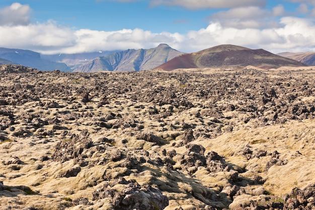 Исландия запекшаяся лава полевой пейзаж