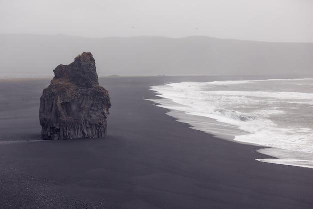 Черный пляж дирхолей, исландия