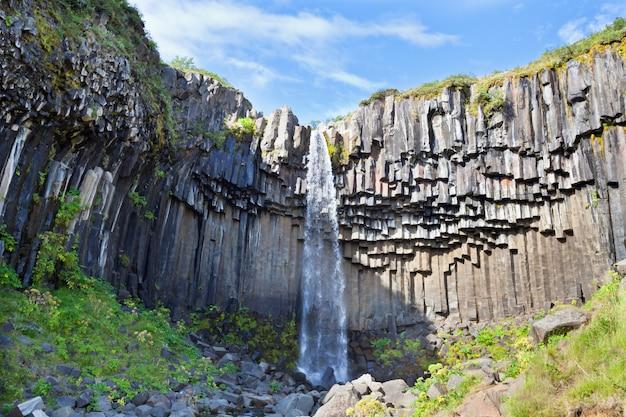 アイスランドのスヴァルティフォス滝