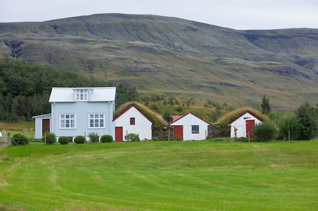 Белый сайдинг исландских домов