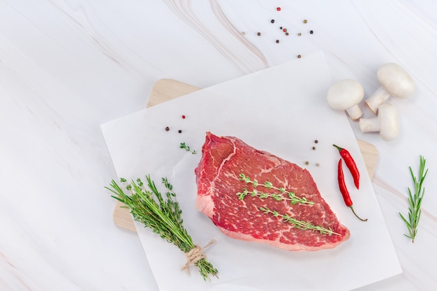 新鮮な牛フィレ肉の材料