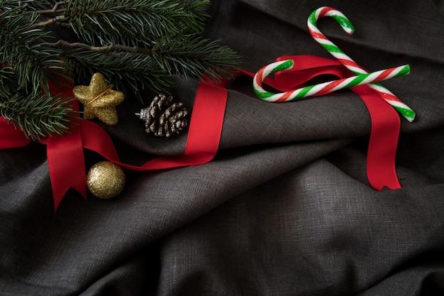 デコレーションの背景とクリスマスの新年のパーティーは幸せの時間を祝う