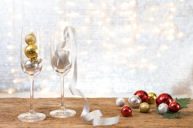 Рождественская новогодняя вечеринка с подарком на фоне празднуют время счастливого особого случая