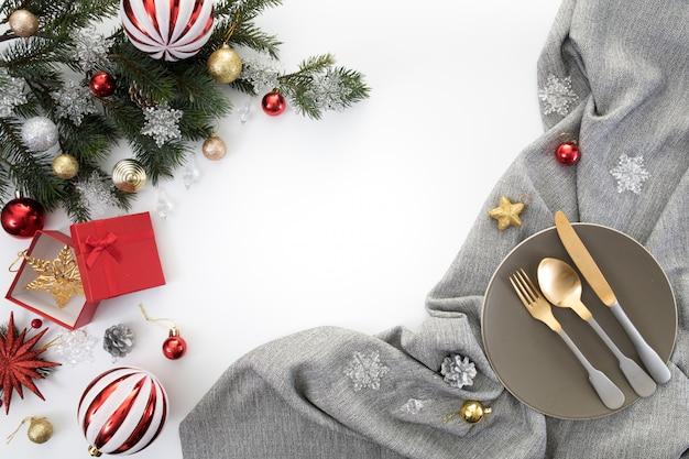 クリスマス、新年、パーティー、夕食、背景、祝賀、時間