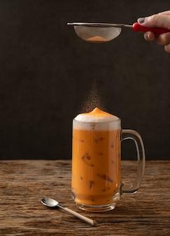 タイの紅茶有名な飲み物伝統的な