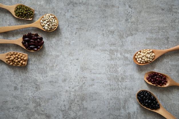 ダイエットに健康的な穀物豆の良いタンパク質
