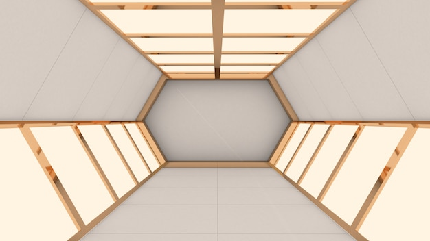 六角形の未来のトンネル