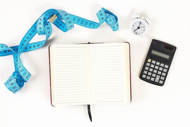 Концепция здорового образа жизни с помощью блокнота