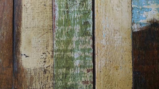 背景の古い塗装木材。