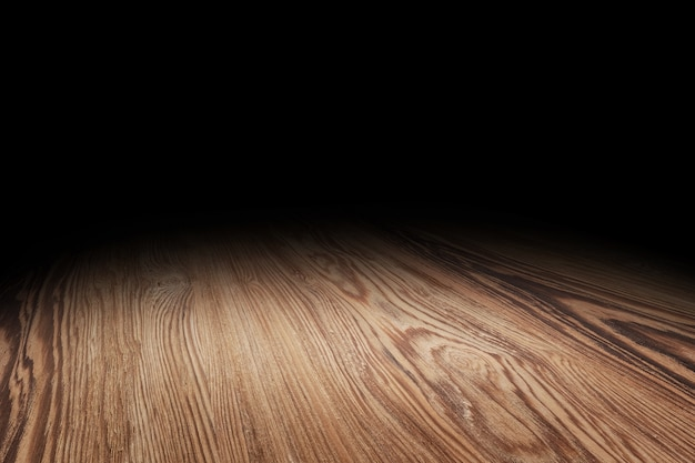 茶色の木の床の質感の視点の背景