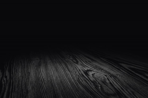 黒の木製の床のテクスチャの視点の背景や製品のモンタージュ