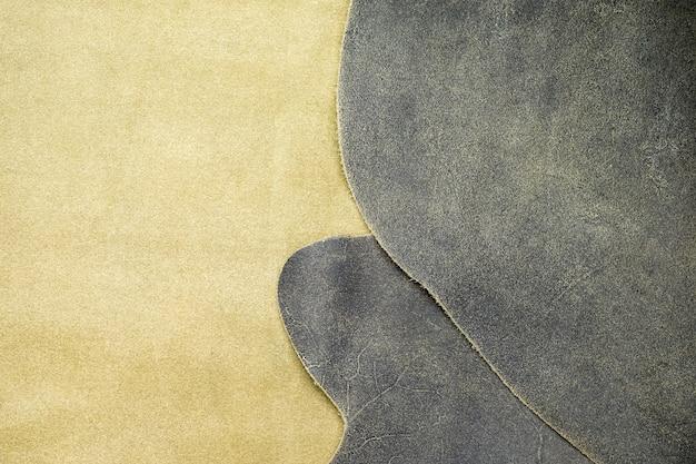 Крупным планом сгиба серая кожа текстура фон