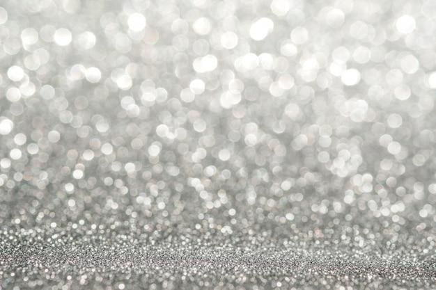 抽象的な光銀輝くキラキラ壁抽象的な光銀輝くキラキラ壁と床の視点