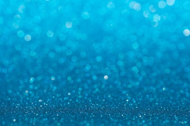 Абстрактный светло-голубой блестящий блеск стены и пола перспектива студии фон с размытия боке