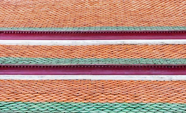 タイの寺院の屋根の上、テクスチャの背景