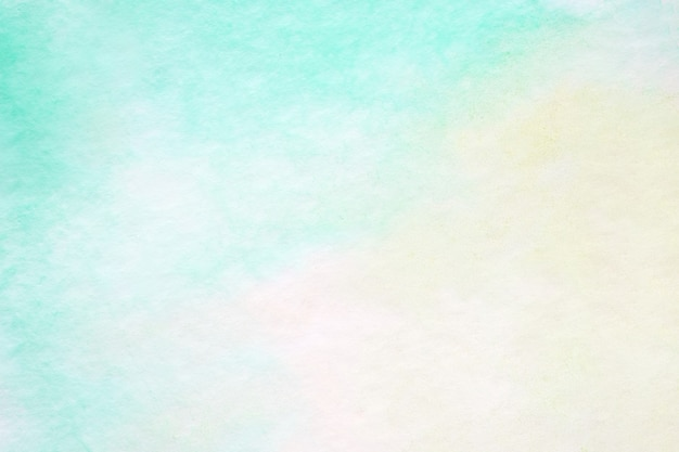 ホワイトペーパーの背景、アート、クラフトデザインの背景にテクスチャ緑の抽象的な水彩画