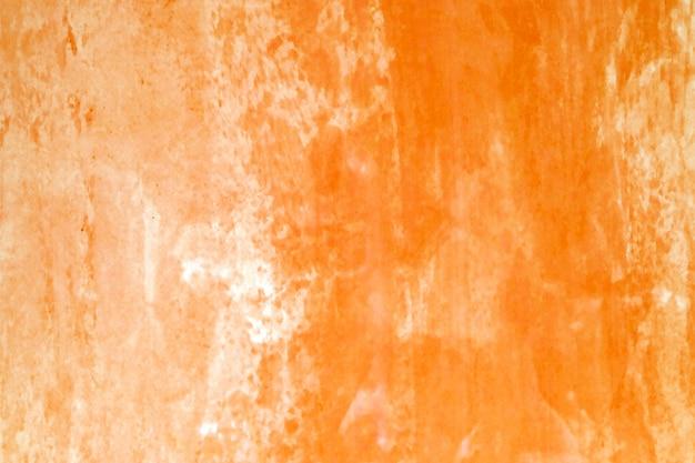 水彩画の背景、ホワイトペーパーの背景にアート抽象的なオレンジ色の水彩画テクスチャデザイン