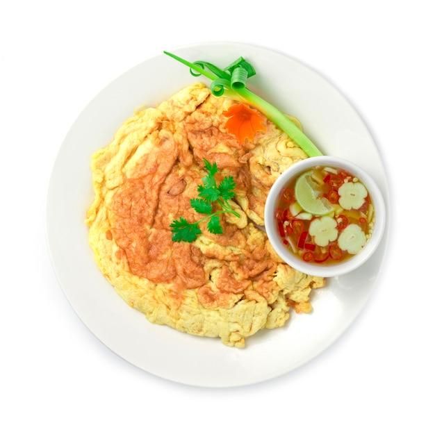 オムレツ目玉焼きタイ料理スタイルの料理