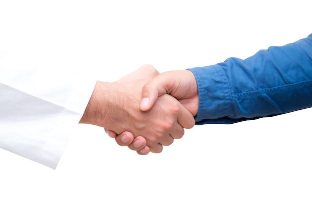 患者と手を振る医療専門医の肖像