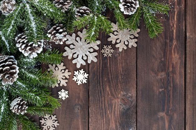 冬の休日の装飾