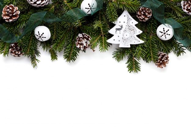 クリスマスの新年の背景