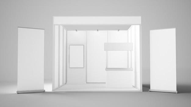 Белый выставочный стенд
