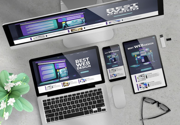 レスポンシブデザインウェブサイト