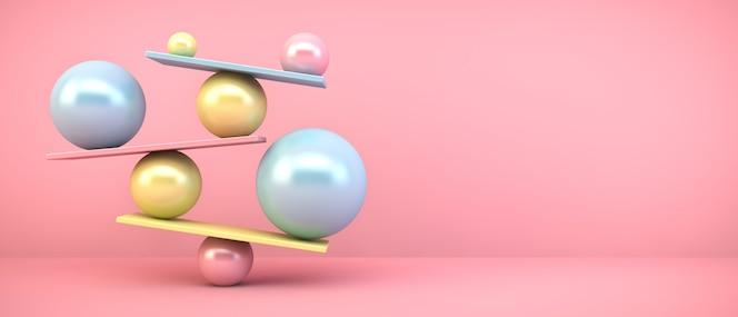 Разноцветные балансирующие шары