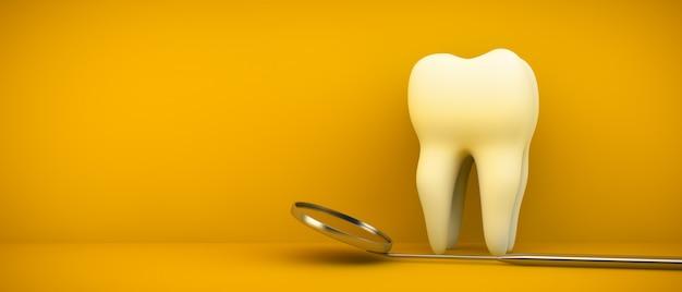 歯とデンタルミラー