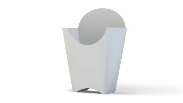 空白のフライドポテトボックス
