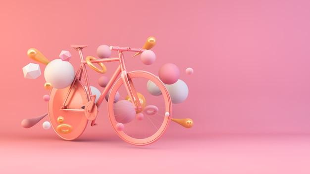 Велосипед из розового золота