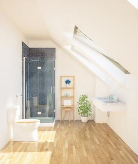 最小限の清潔なバスルーム