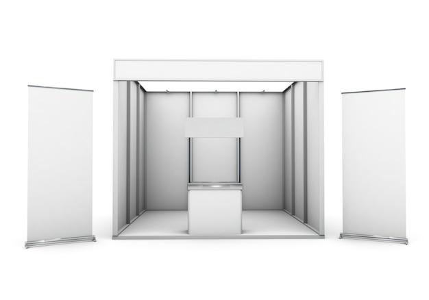 Выставочный стенд изолирован с двумя свернуть