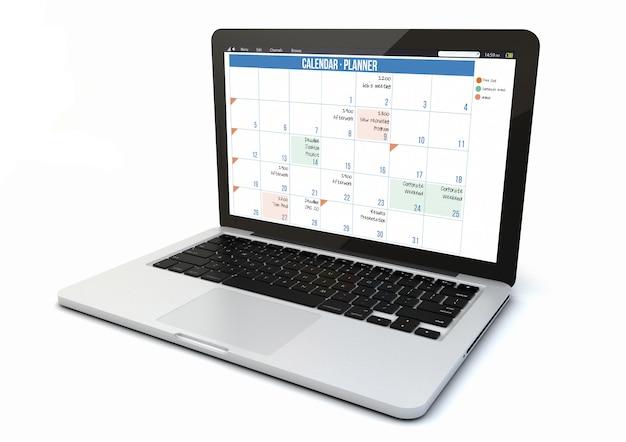 Календарь для ноутбука