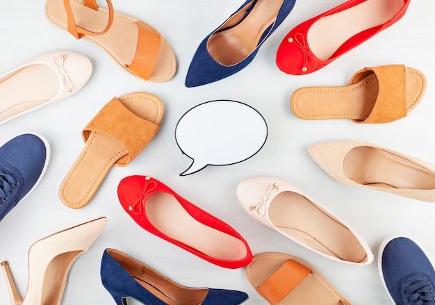 女の子の春夏靴コレクション。